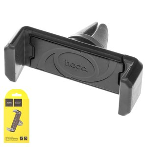 Автомобильный держатель Hoco CPH01, черный, серебристый, на дефлектор