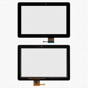 Touchscreen for Huawei MediaPad 10 Link 3G (S10-201u), MediaPad 10 Link+ (S10-231u) Tablets, (black)