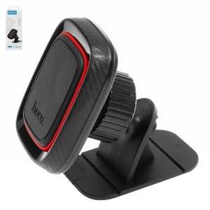 Car Holder Hoco CA24, (black, magnetic, adhesive base)