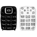 Teclado puede usarse con Nokia 6131, negra, caracteres latinos