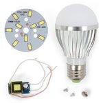 Juego de piezas para armar lámpara LED regulable SQ-Q02 5730 5 W (luz blanca fría, E27)