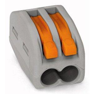 Прямой 2-контактный клеммник для соединения проводов 250 В 30 А