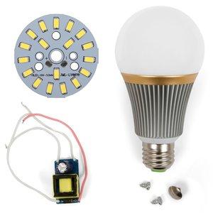 Juego de piezas para armar lámpara LED regulable SQ-Q23 5730 9 W (luz blanca fría, E27)