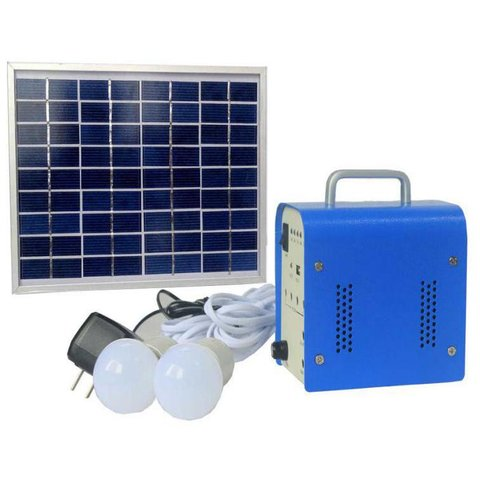 DC Portable Solar Power System, 5 W, 12 V 4 Ah, Poly 18 V 5 W